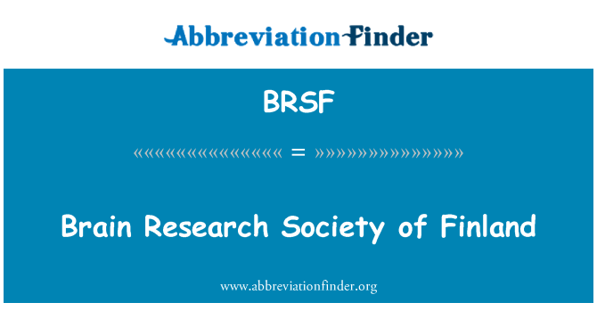 BRSF: Brain Research Society of Finland