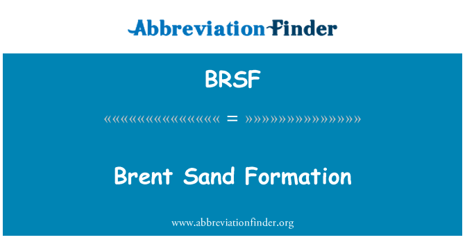 BRSF: Brent Sand Formation