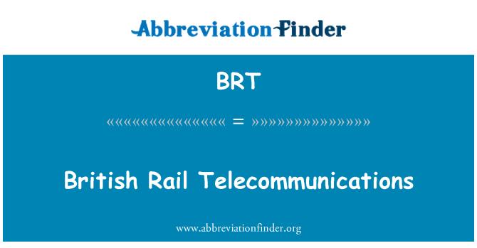 BRT: British Rail Telecommunications