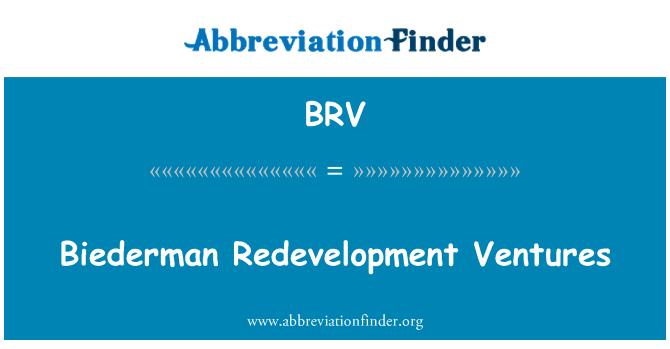 BRV: Biederman Redevelopment Ventures