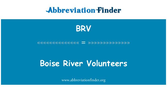 BRV: Boise River Volunteers