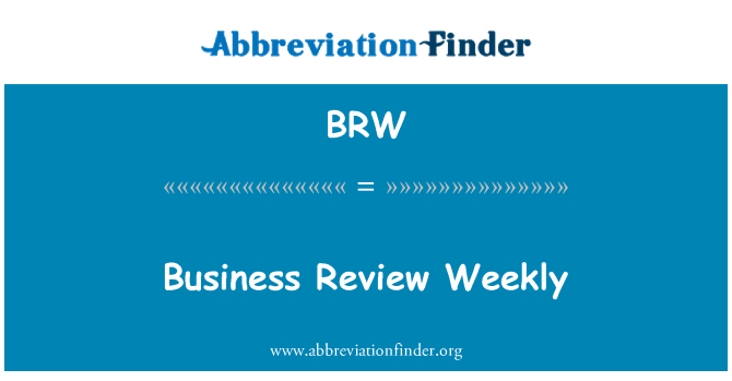 BRW: Business Review Weekly