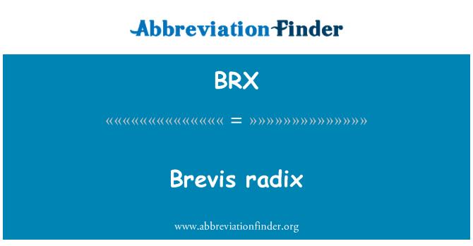 BRX: Brevis radix