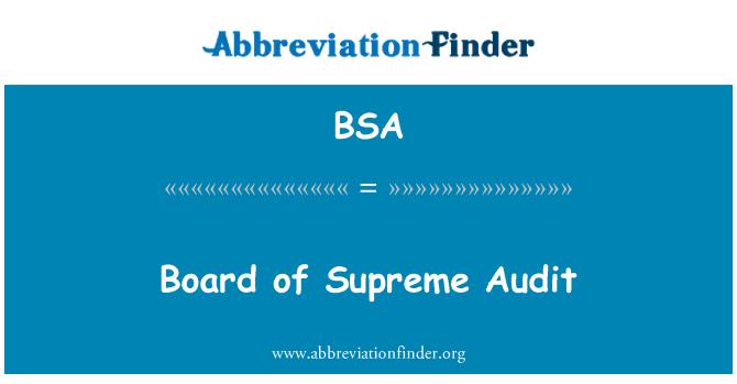 BSA: Board of Supreme Audit