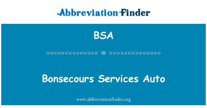 BSA: Bonsecours Services Auto