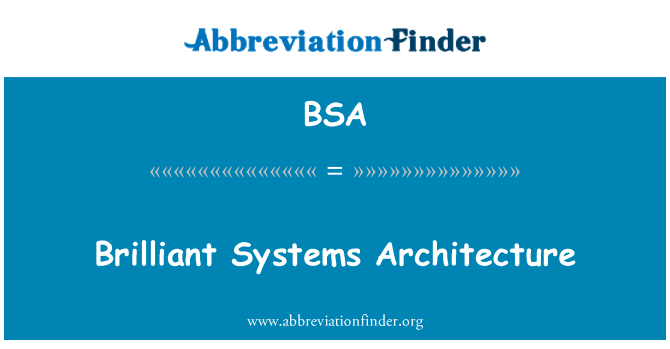 BSA: Brilliant Systems Architecture