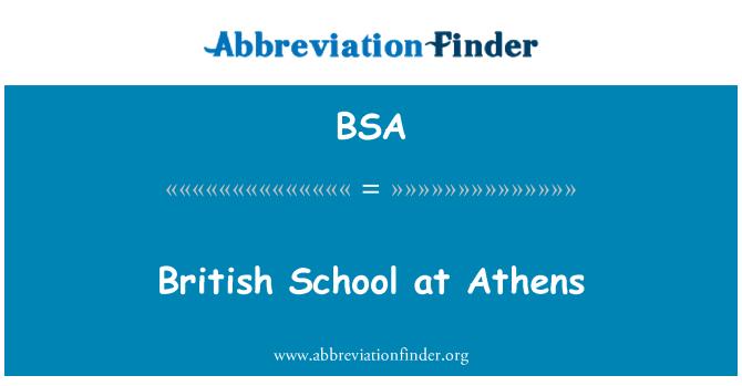 BSA: British School at Athens