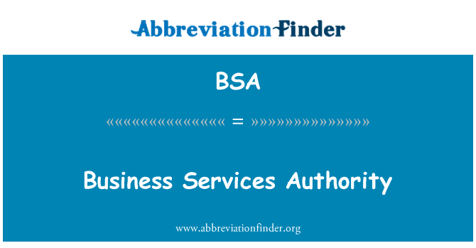 BSA: Business Services Authority