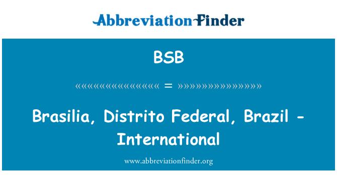 BSB: Brasilia, Distrito Federal, Brazil - International
