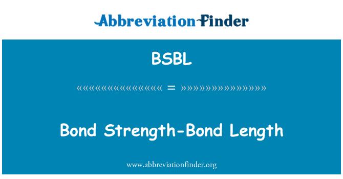 BSBL: Bond Strength-Bond Length