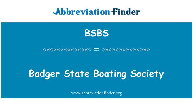 BSBS: Sociedad de canotaje del estado tejón
