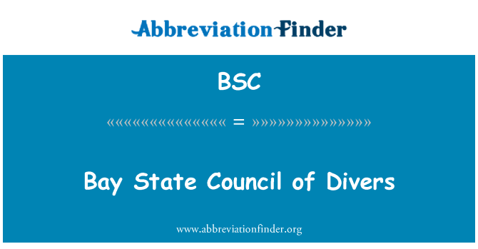 BSC: Bay State Council of Divers
