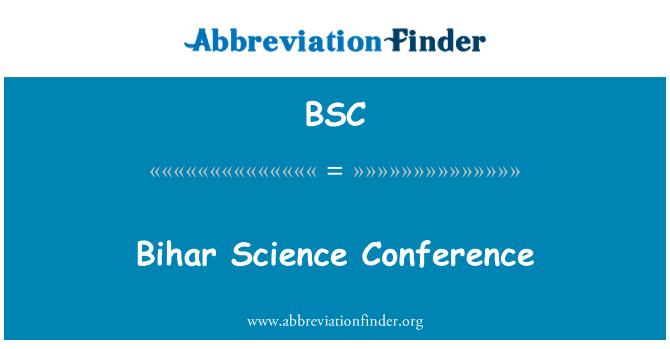 BSC: Bihar Science Conference