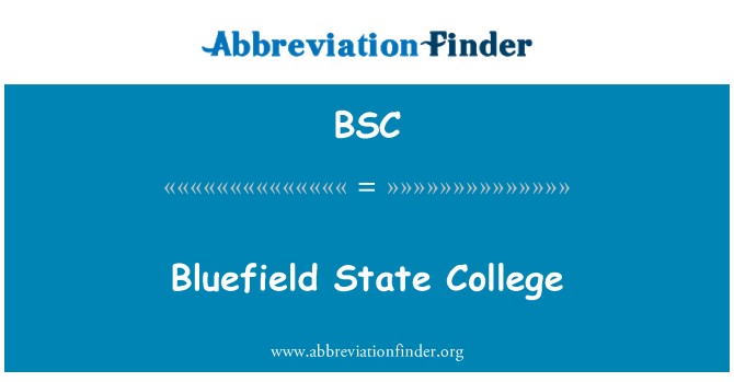 BSC: Bluefield State College