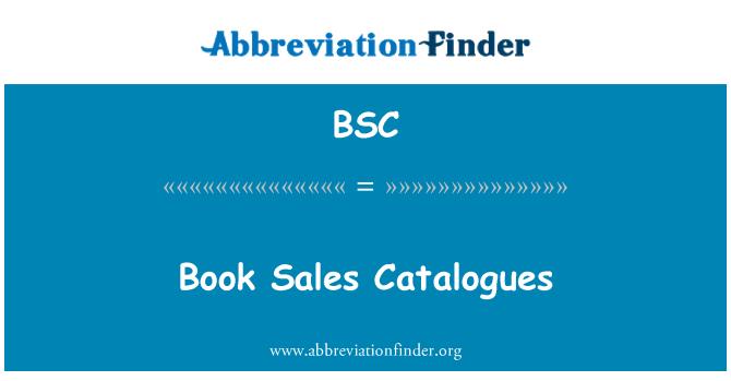 BSC: Book Sales Catalogues