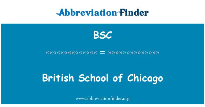 BSC: British School of Chicago