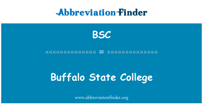 BSC: Buffalo State College