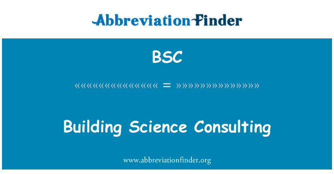 BSC: Building Science Consulting
