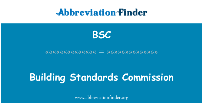BSC: Building Standards Commission