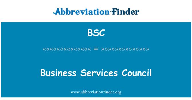BSC: Business Services Council