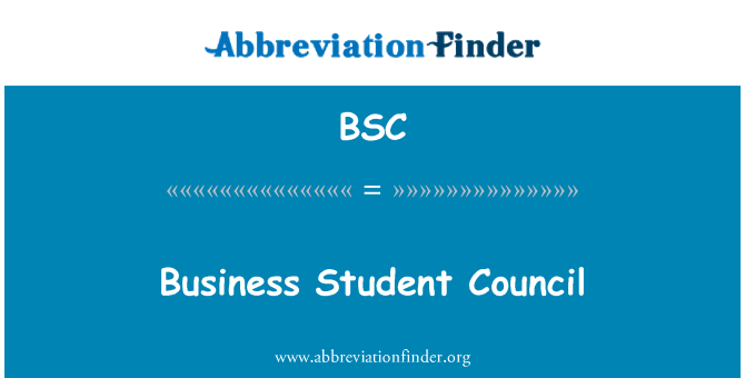 BSC: Business Student Council