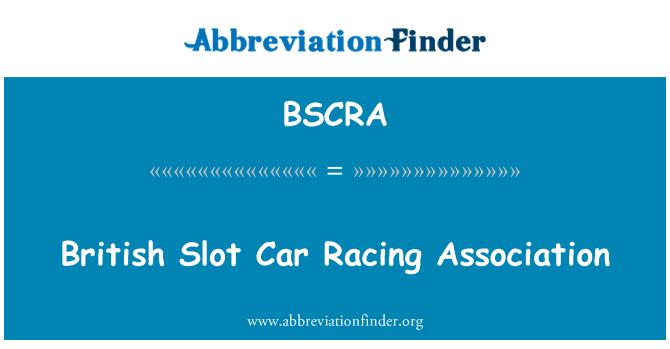 BSCRA: British Slot Car Racing Association