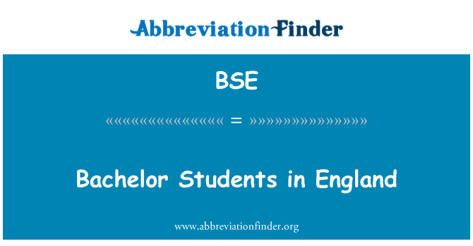 BSE: Bachelor Students in England