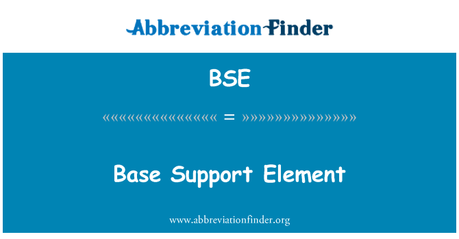 BSE: Base Support Element