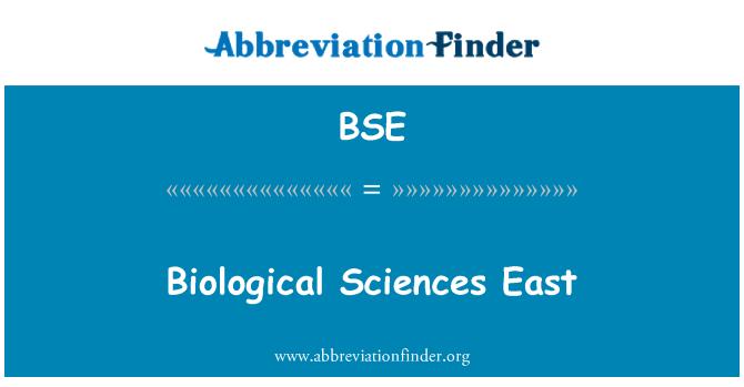 BSE: Biological Sciences East