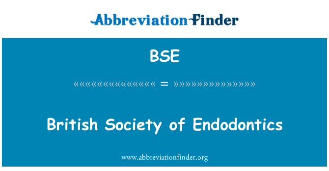 BSE: British Society of Endodontics