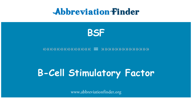 BSF: B-Cell Stimulatory Factor