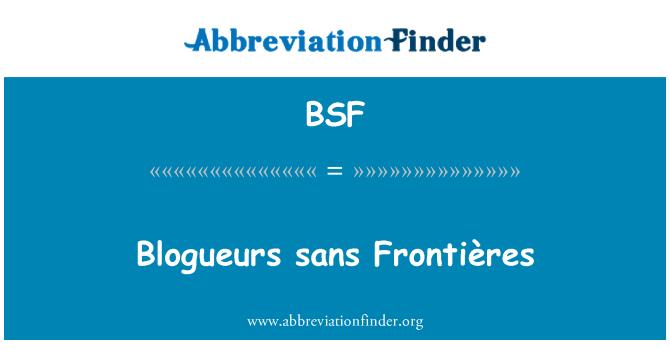 BSF: Blogueurs sans Frontières