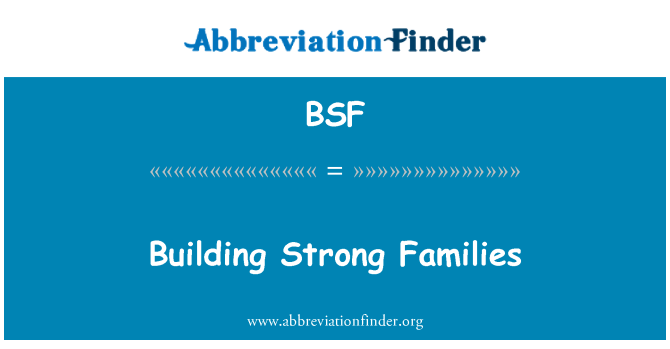 BSF: Building Strong Families