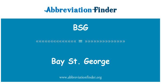 BSG: Bay St. George