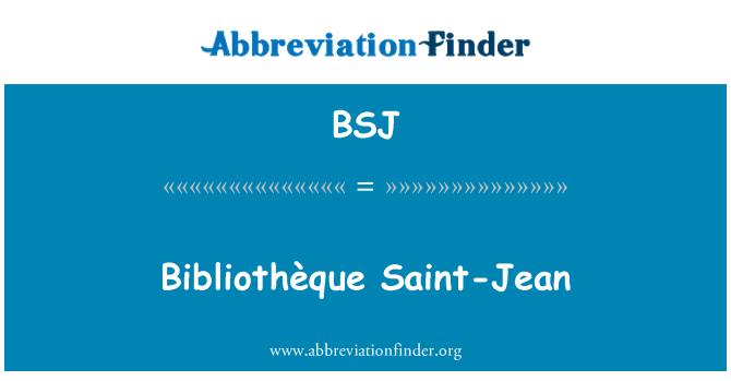 BSJ: Bibliothèque Saint-Jean