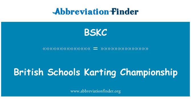 BSKC: British Schools Karting Championship