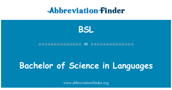 BSL: Bachelor of Science in Languages