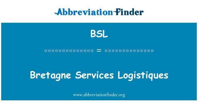 BSL: Bretagne Services Logistiques