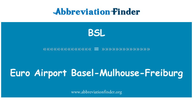 BSL: Euro Airport Basel-Mulhouse-Freiburg