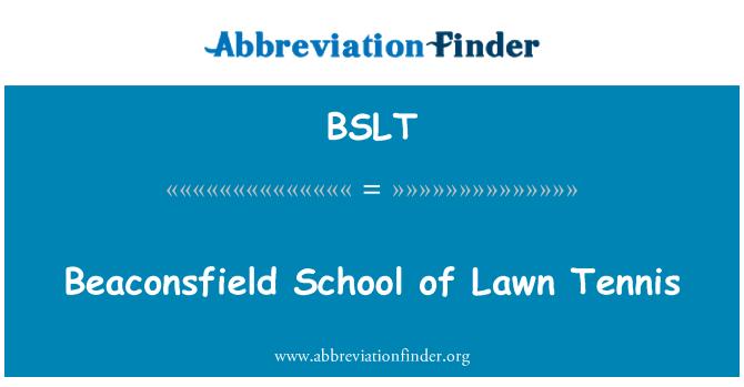 BSLT: Beaconsfield School of Lawn Tennis