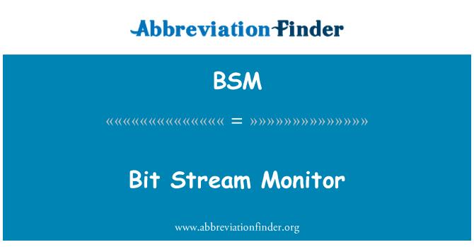 BSM: Bit Stream Monitor