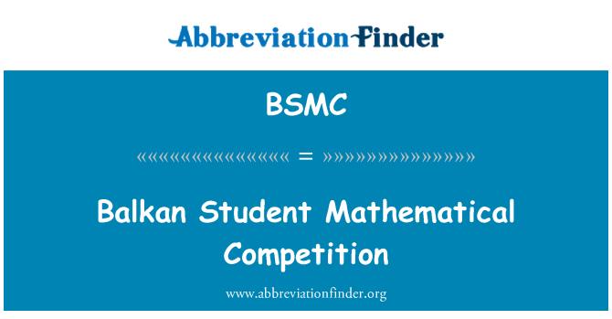 BSMC: Balkáni tanuló matematikai verseny