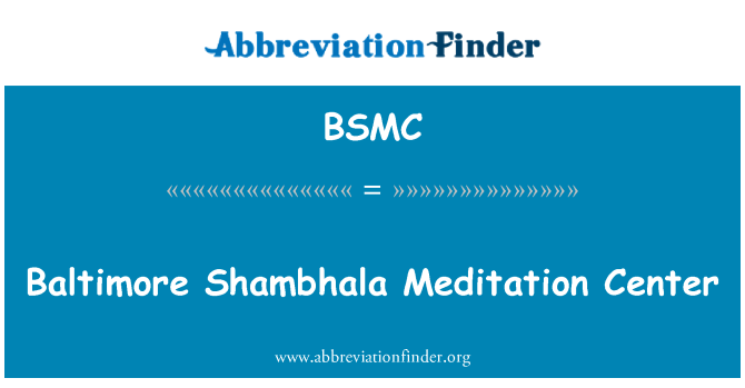 BSMC: Baltimore Shambhala Meditationszentrum