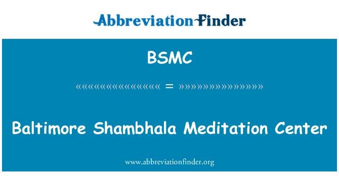 BSMC: Baltimore Shambhala meditacijos centras