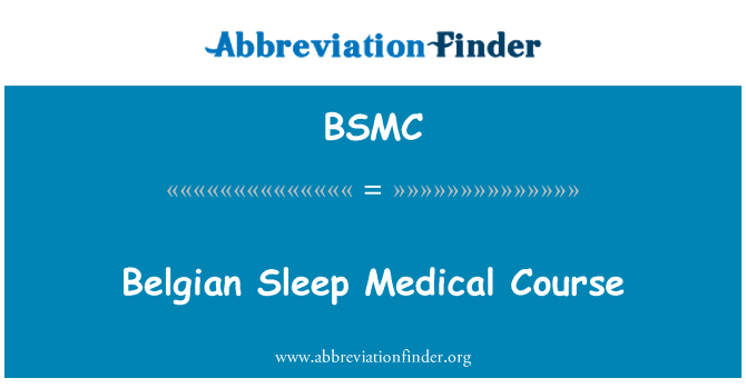 BSMC: Curso médico belga sueño