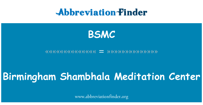BSMC: Birmingham Szambali centrum medytacji