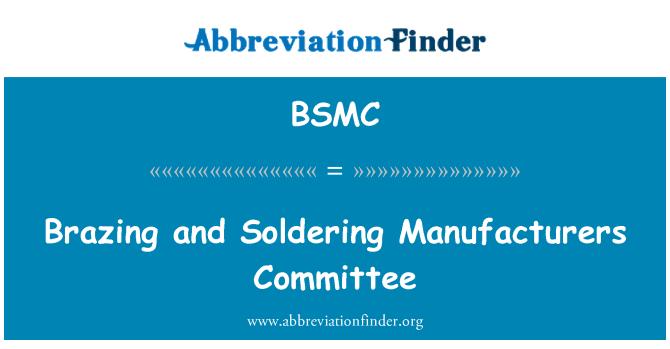BSMC: Litavimo ir litavimo gamintojų komitetas
