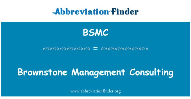 BSMC: Consultoría de gestión de color café rojizo