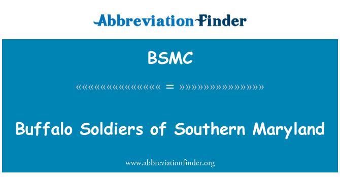 BSMC: Buffalo Soldiers Etelä Marylandissa