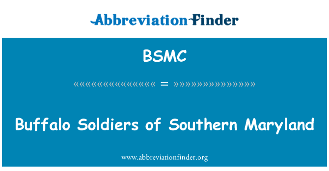 BSMC: Buffalo Soldiers Pietų Maryland